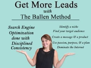Lori Ballen with hands displaying best practices for real estate agent blog through The Ballen Method