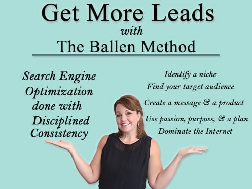 Lori Ballen with hands displaying best practices for real estate lead generation through The Ballen Method