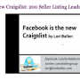 Facebook is the new Craiglist Webinar