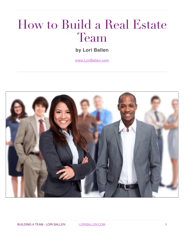 How to Build a Real Estate Team