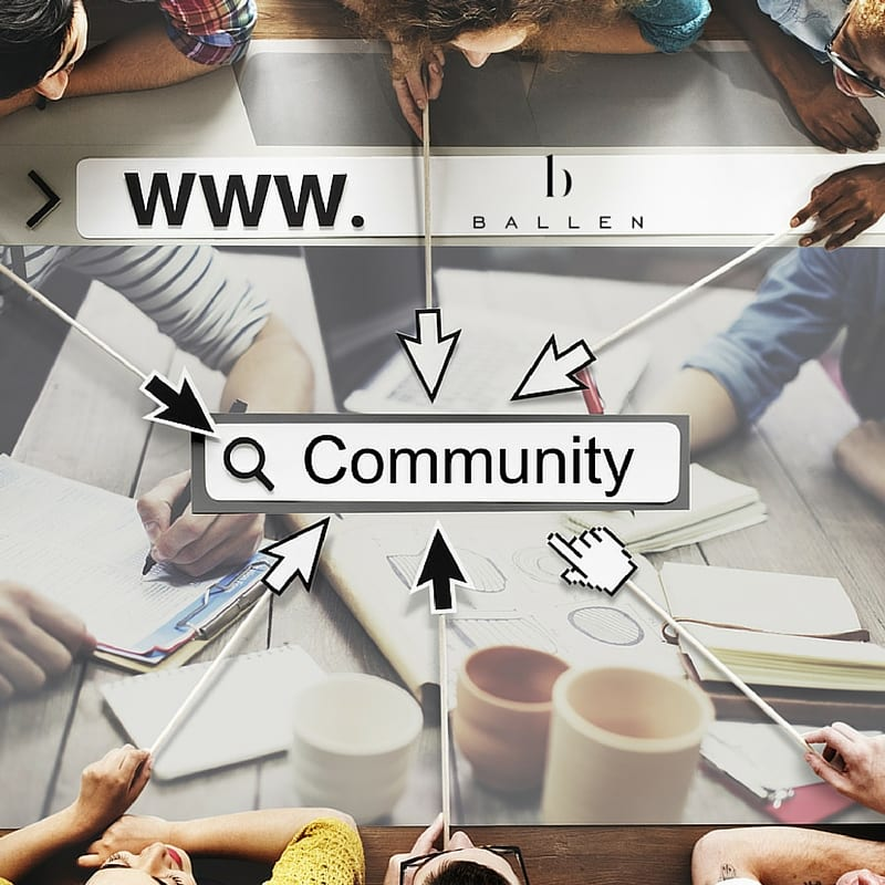 professionals working on community pages for local marketing