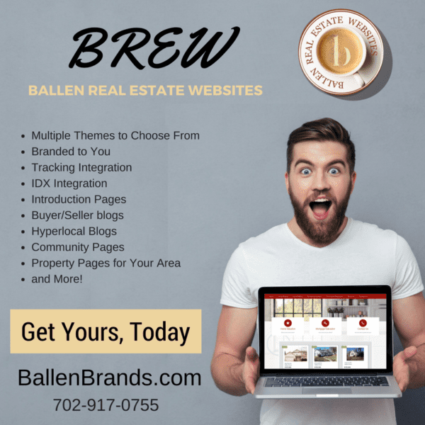 Marketing image designed to sell Ballen Real Estate Websites