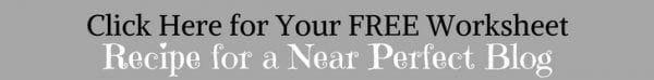 banner offering worksheet for blog writing