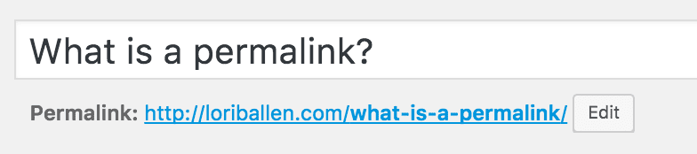 What is a Permalink
