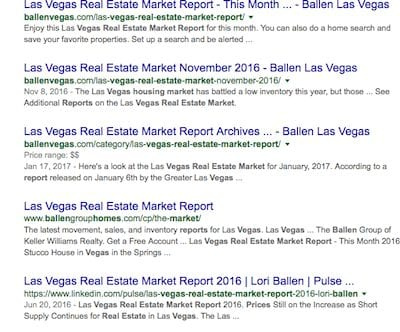 screen shot of snippets on a Google search engine results page