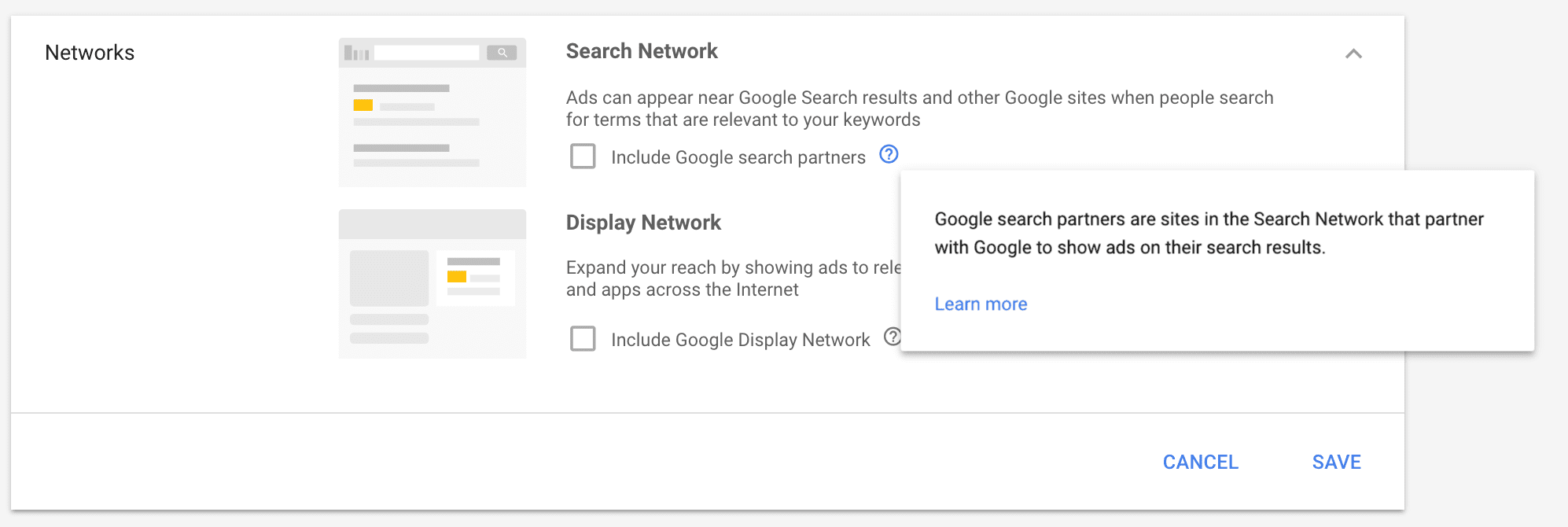 Search Network and Display network
