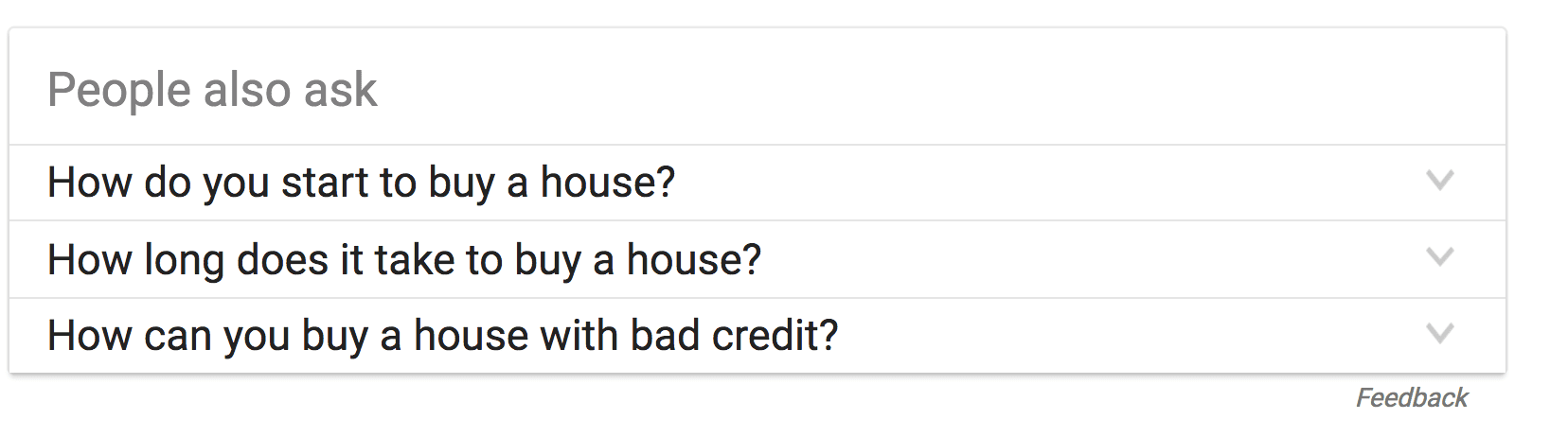 "Sample of Google SERP ""People also ask"""