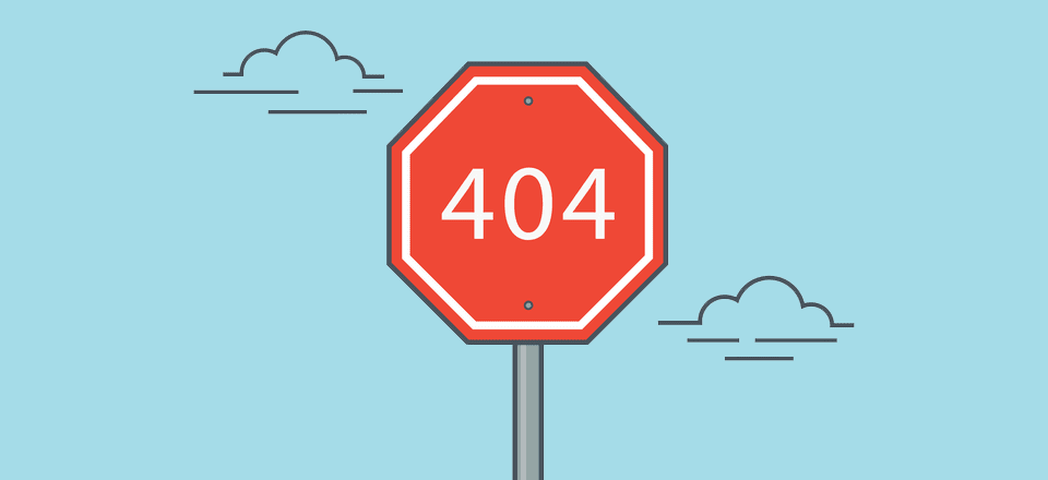 cartoon blue sky with red stop sign that says 404