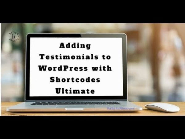 Computer screen reads adding testimonials to wordpress with shortcodes ultimate