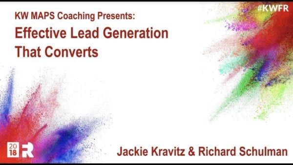 White power point cover says KW maps coaching presents