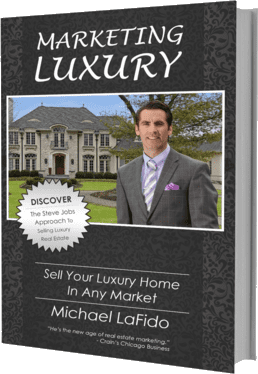 Book Cover has Michael LaFidos picture plus the words Marketing Luxury and sell your luxury home in any market