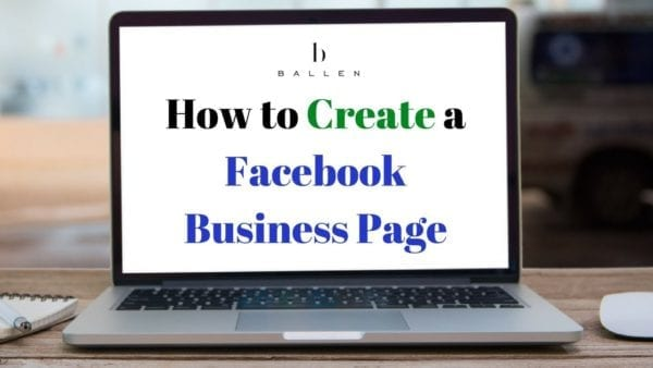 laptop computer spells out the words how to create a facebook business page