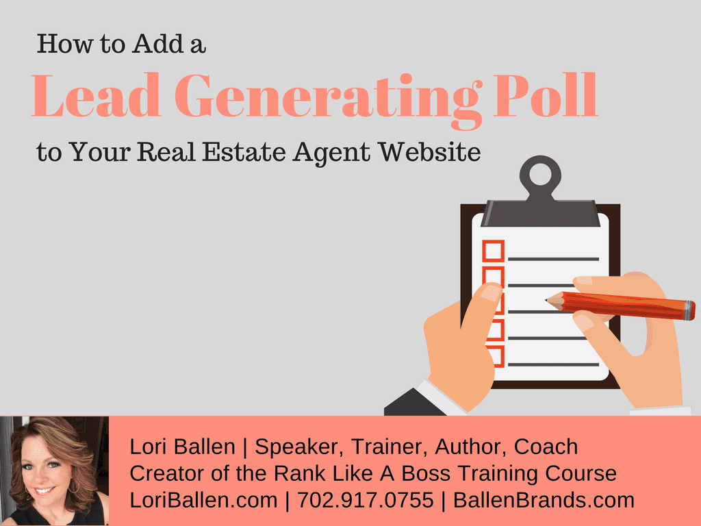How to Add a Lead Generating Poll to Your Real Estate Agent Website