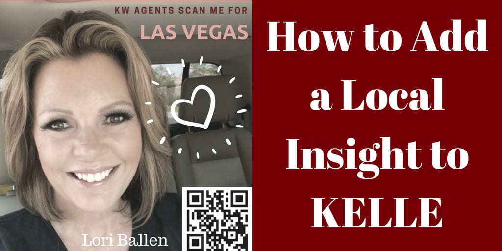 Keller Williams Agents, Here's how to add a local insight to KELLE. We were told at Megacamp that agents will appear HIGHER in the referral directory based on additions!