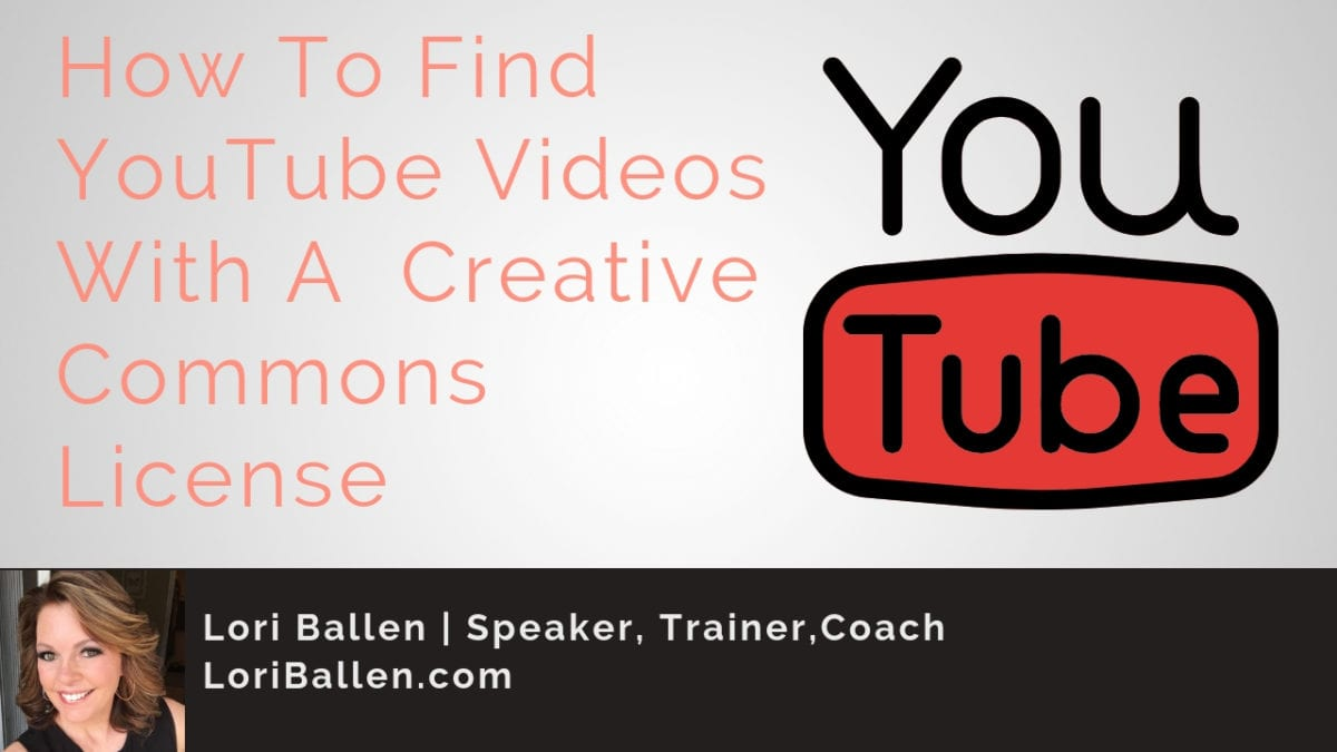 A youtube icon is next to the words how to find youtube videos with a creative commons license