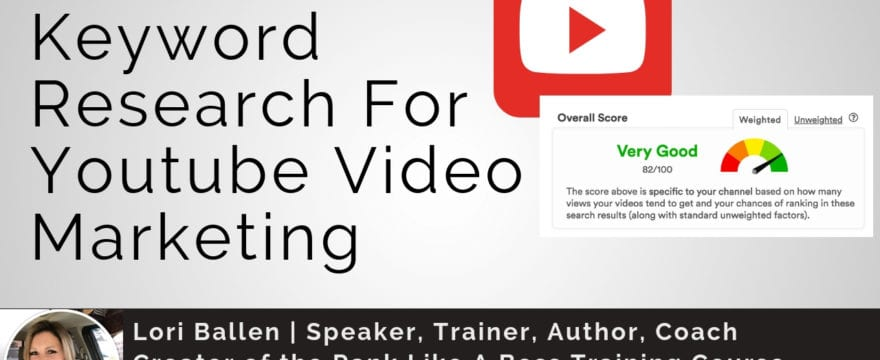a scoring system screenshoot with youtube icon and the words how to do keyword research