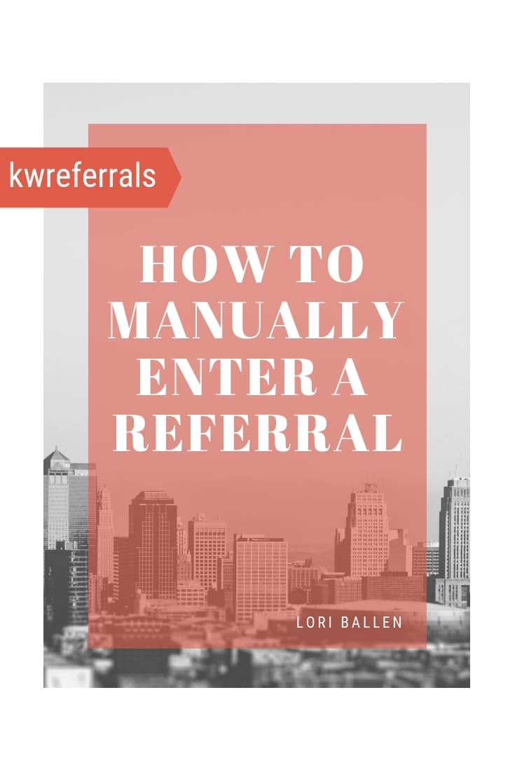 I recently attended Keller Williams Family Reunion where I was told that we could now manually enter and track referrals in My referrals / KW Command. There's good news is that we can enter it, the bad news is it looks like 2-way communication isn't available as of today.