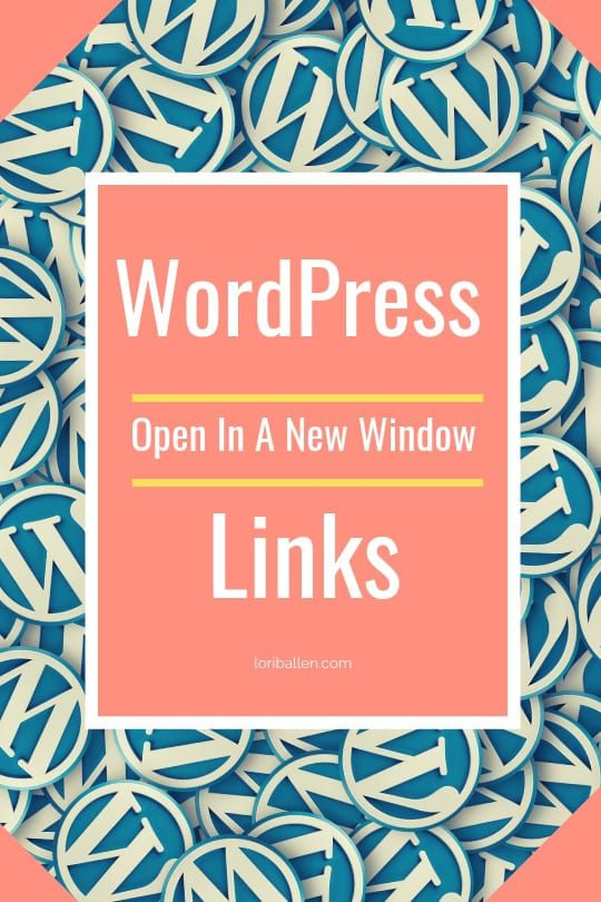 In this video, Lori Ballen, Creator of The Ballen Method To Marketing will show you how to add a simple WordPress plugin that will allow all external links to open in a new tab or window.
