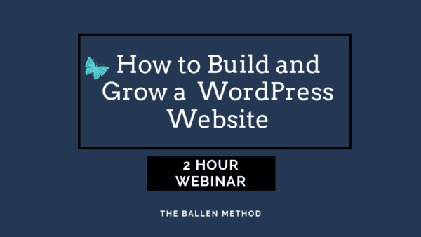 On June 20th, I'm hosting a 2-hour webinar on how to build and grow a WordPress Website. My websites drive all of my brands.