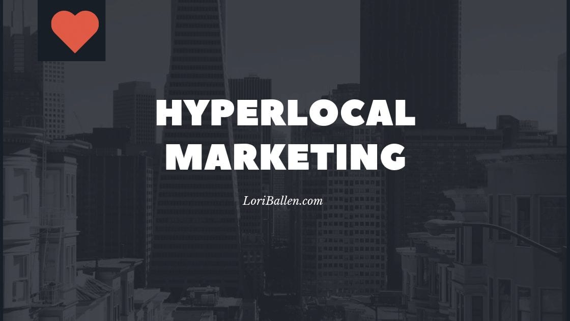 What exactly does Hyperlocal mean? Hyperlocal is basically a specialized focus on a small local area with the message and product and content target marketed on that audience. Hyperlocal marketing can include traditional geographic farming or more digital methods like we are seeing now on social websites like Nextdoor.