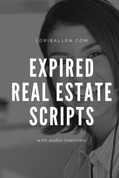 Aaron Wittenstein built his real estate career on expired listings. He shares his scripts here. Lori Ballen, a Las Vegas Real Estate Agent and coach interviewed Aaron on his expired listing business. Listen in.