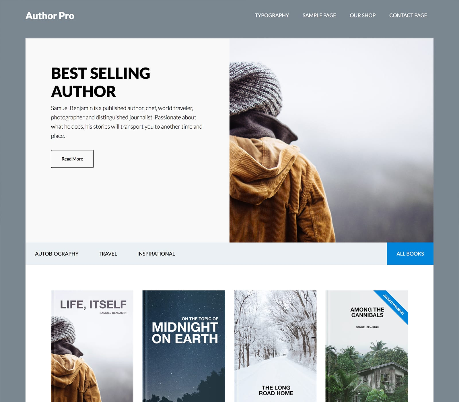 Author Pro is a great theme for published authors. With author pro, you build a better online library of books with its intuitive design and powerful functionality. Showcase your published work with the user-friendly features of Author Pro.