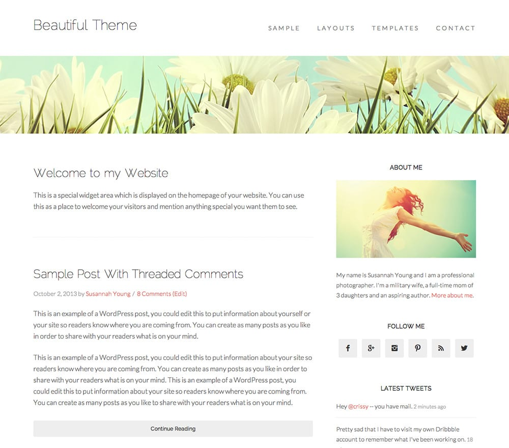Enjoy Beautiful Pro, a theme that welcomes you to create your own beautiful canvas.