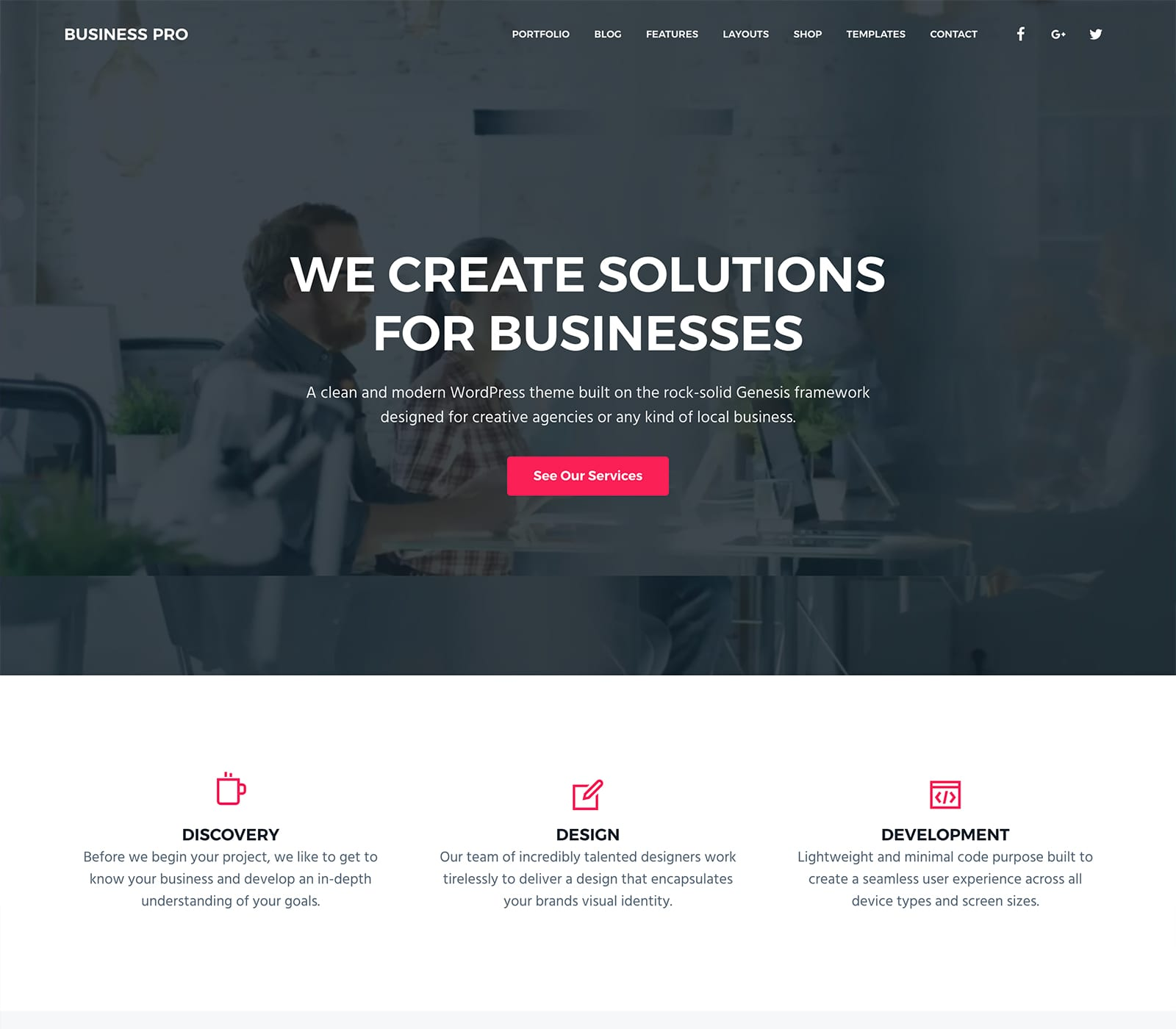Business Pro is simple and flexible. The built-in core features offer WordPress functionality such as custom logos, headers, videos, and images. It offers image and video widgets. This theme is great for marketing agencies, small business professionals, service providers and more.  Anyone in business can appreciate the simplicity and professionalis elements of Business Pro.