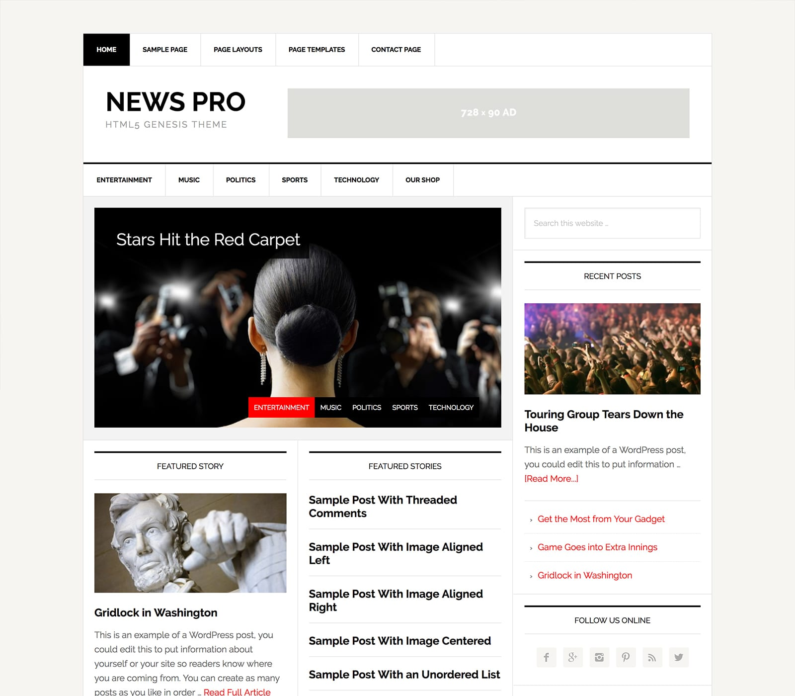 Delivery articles in style with the powerhouse News Pro Theme. Give your readers content in the form of video, articles, audio, and images provided with an eye-popping designed them that offers simple navigation.