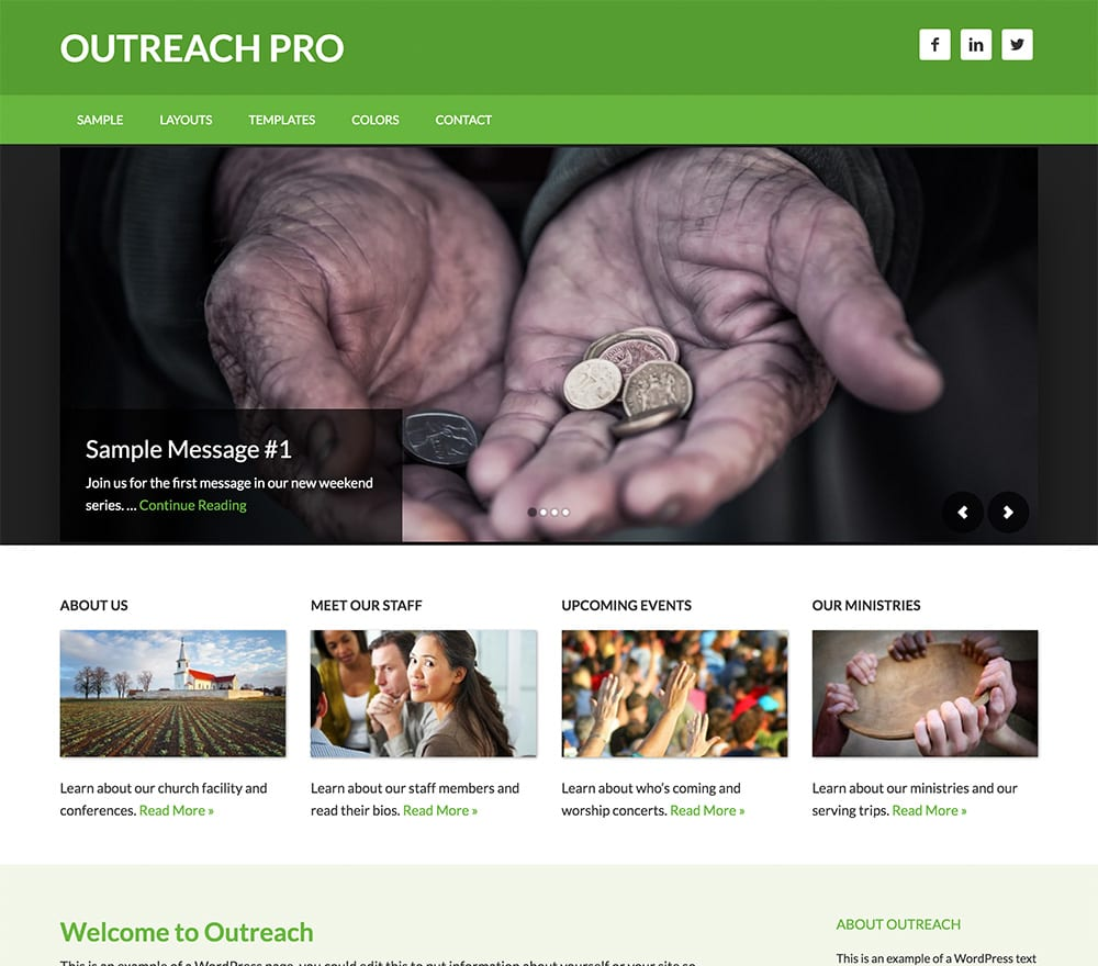 Designed for a church or charity, Outreach Pro offers the framework you need to create messages that can reach the people that need to find it.