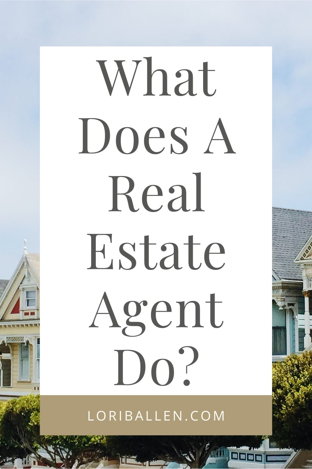"Keep in mind that while many of these things that are done by real estate  are not tasks as part of a contract or job description, but ""extras"" that the agent just does because they care about the client, community, and industry."