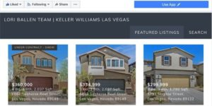 Facebook Pages that have 2000 followers or more can add IDX Broker for featured real estate listings.