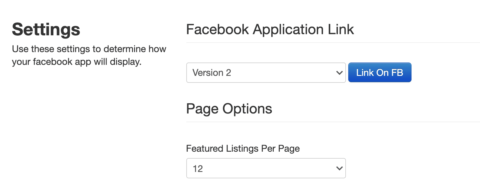 Next, click the Settings Tab and then the button 'Link on FB'.