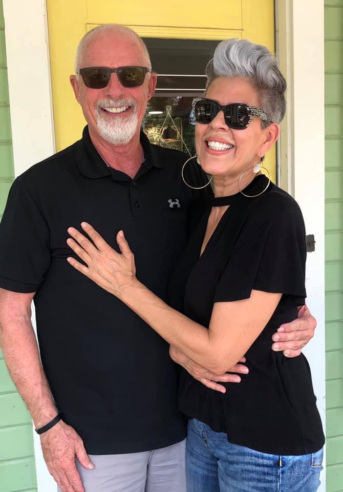 Dave Jenks and his wife Gina Waterfield for reasons they may not realize, and that's energy at age 50+.  Dave Jenks and his wife Gina Waterfield for reasons they may not realize, and that's energy at age 50+.