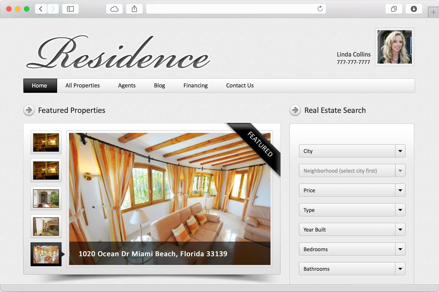 Add your property information in one place, from property price and status to full details, all property features, YouTube or Vimeo videos.  Location and Google Maps integration with street view Residence WordPress Real Estate theme is the most advanced and easy to use WordPress Real Estate theme in the market.