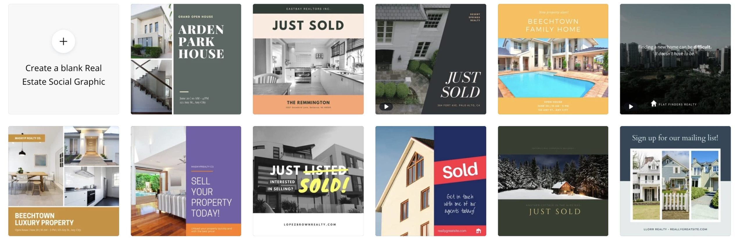Make instagram posts for real estate