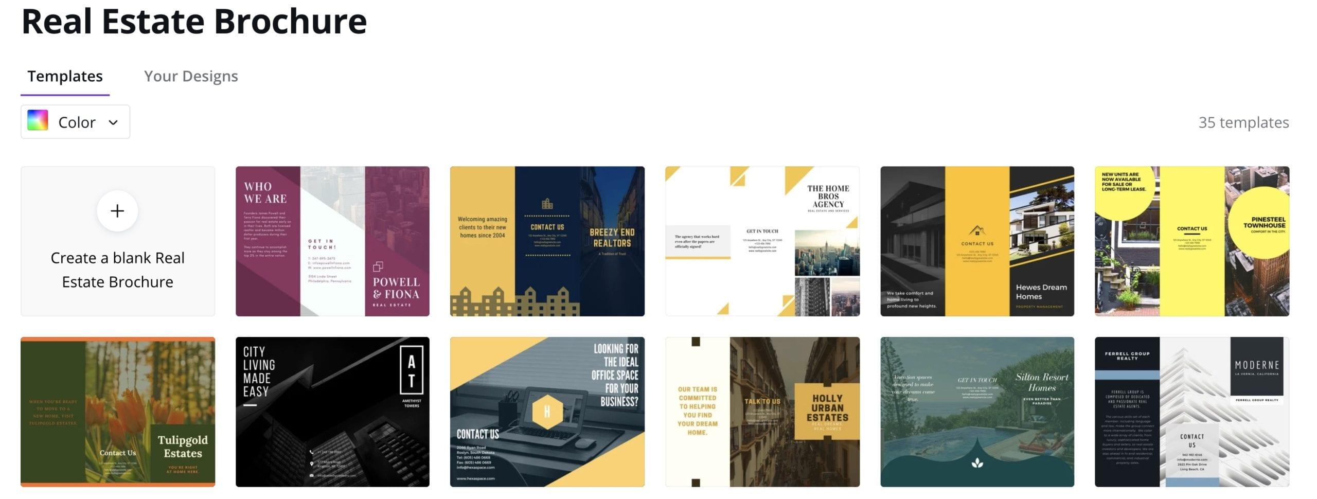 Make real estate brochures in Canva.