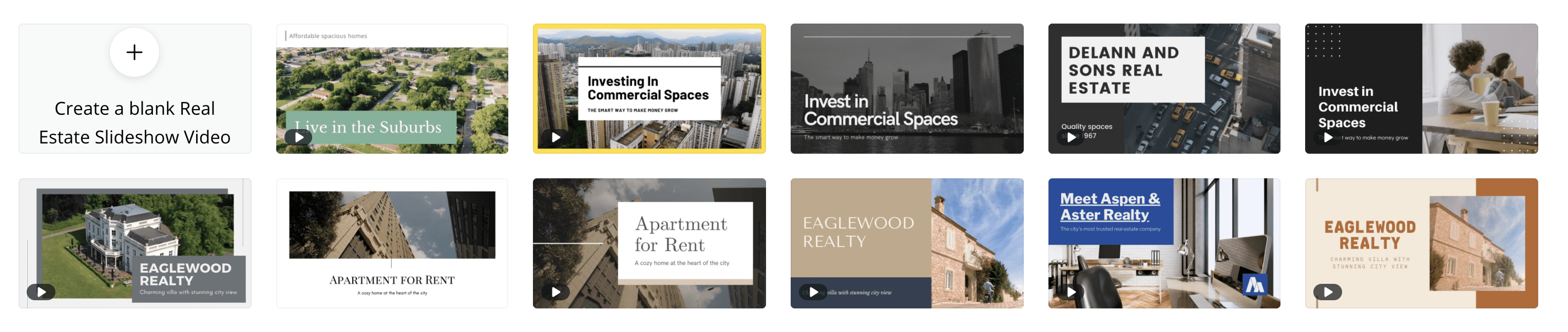 Create real estate slideshow videos with Canva.