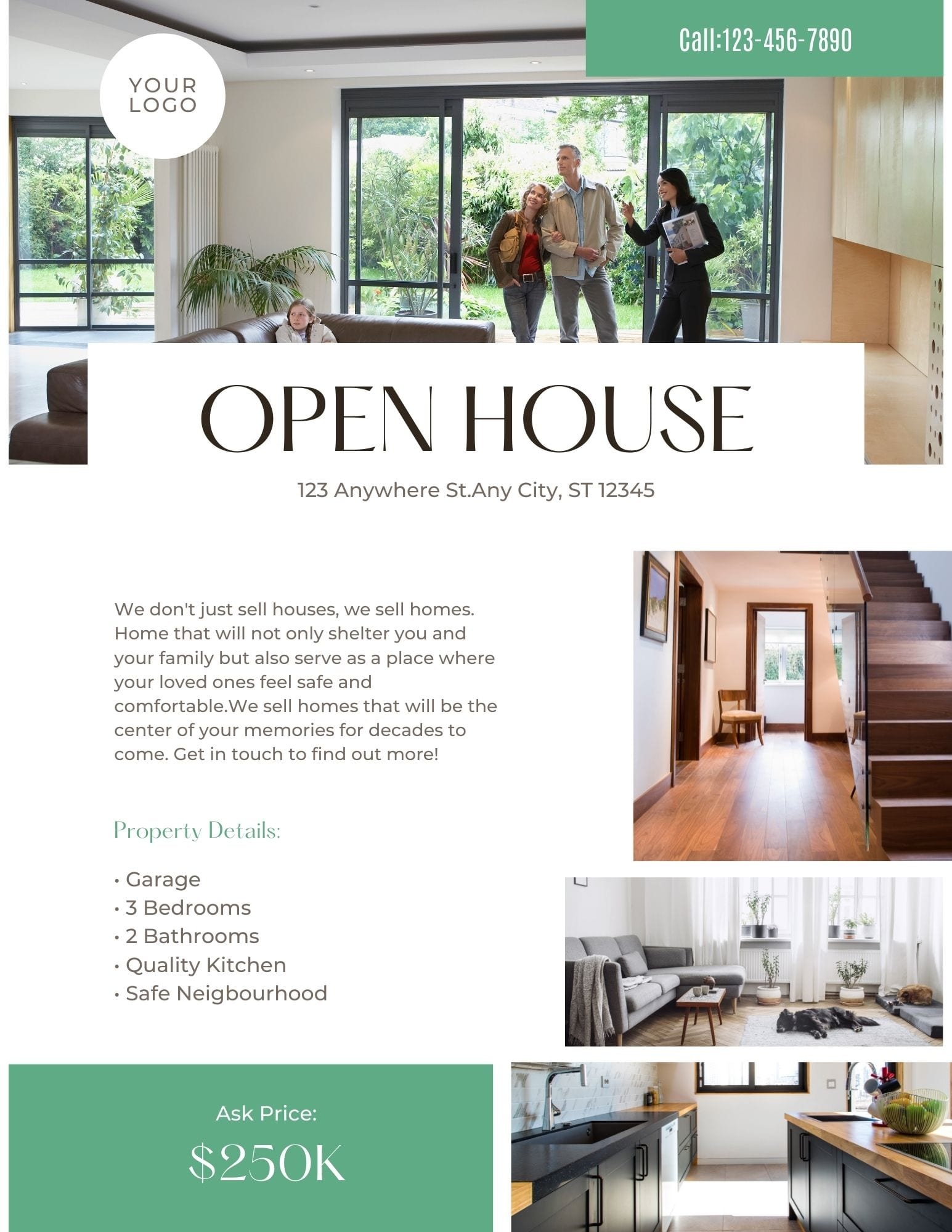 If you print real estate flyers to distribute at your open house, use for door knocking, at listings, or for door knocking, you'll love Canva.
